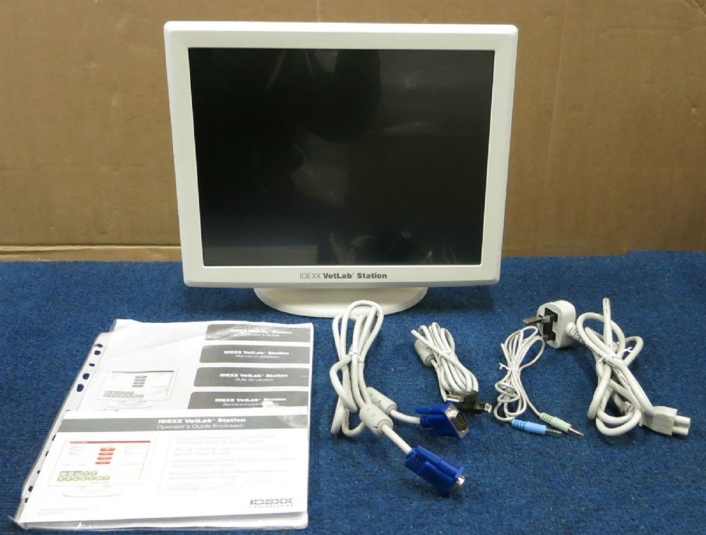 IDEXX VetLab Station Touch Screen Monitor Display & Stand 98-19386-00 + Manual